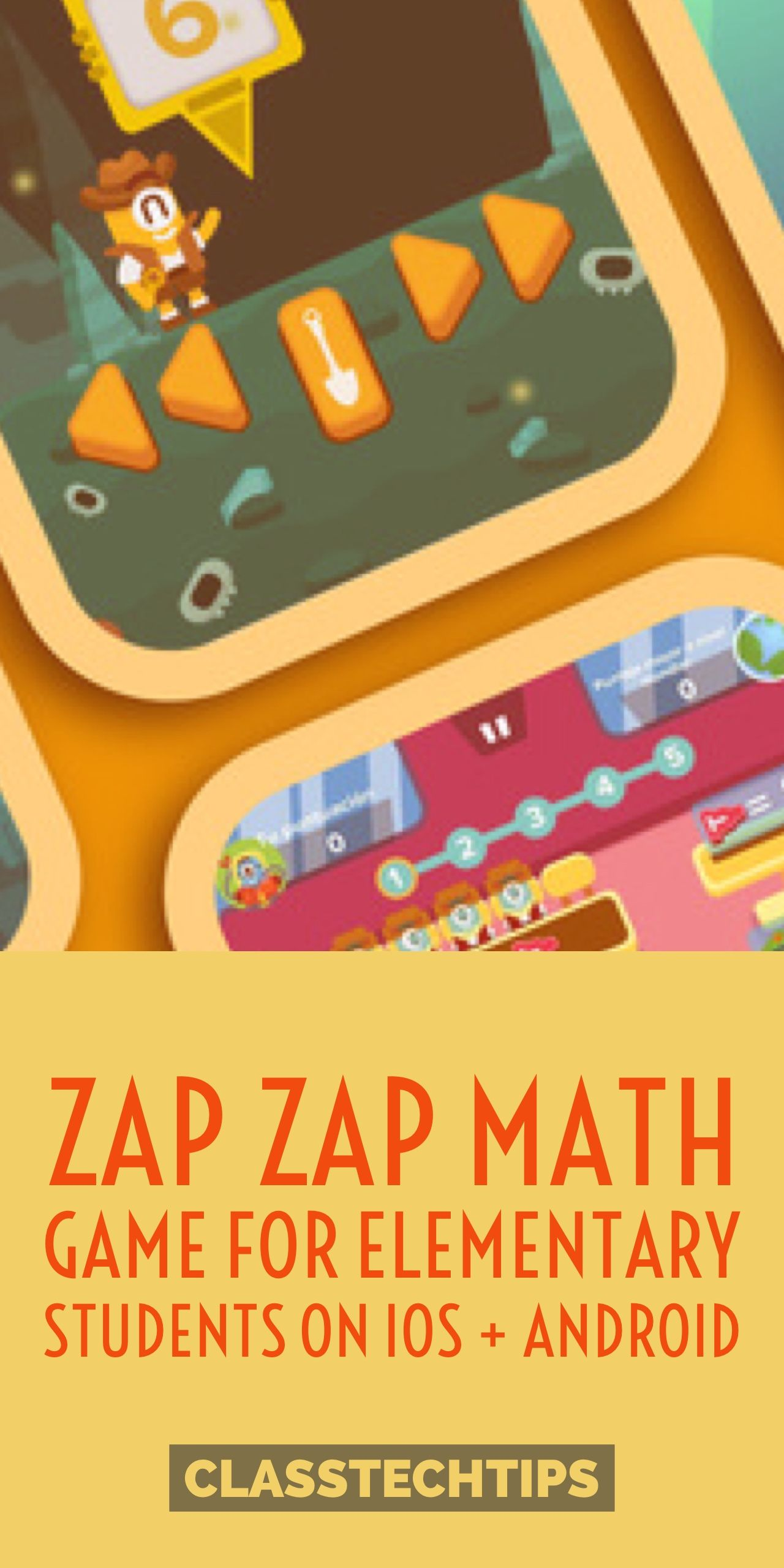 Zap Zap Math Game for Elementary Students on iOS + Android