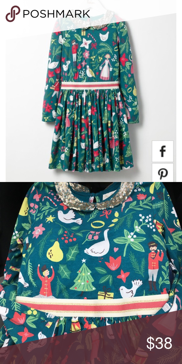 fb9873285fde0 Mini Boden 🎄 Christmas party jersey dress 7 8 New This was purchased by me  from the Boden store. It was a display sample so it does not have a tag, ...