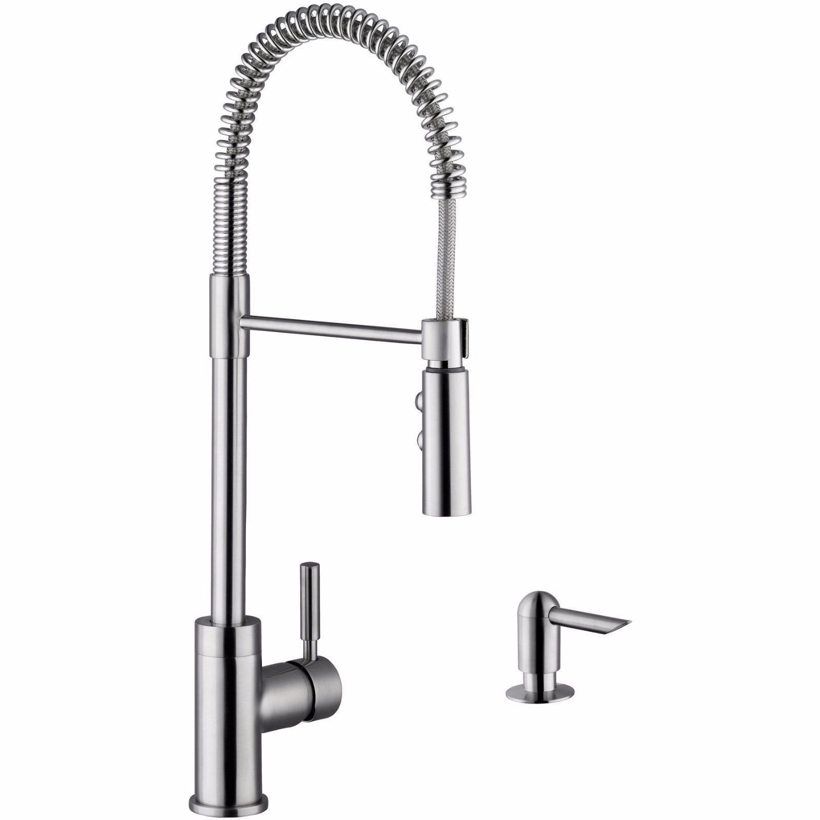 Cahaba Ca6113ss Single Handle Pull Down Industrial Style Faucet With