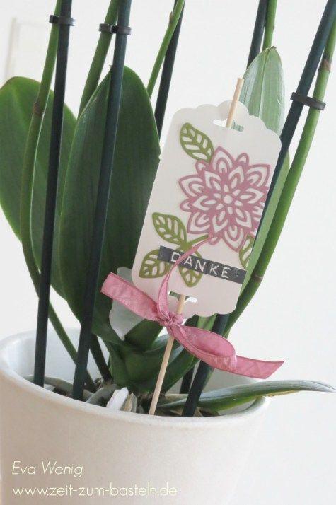 www.zeit-zum-basteln.de - Blumenstecker für schnelle Blumengeschenke (Stampin Up)