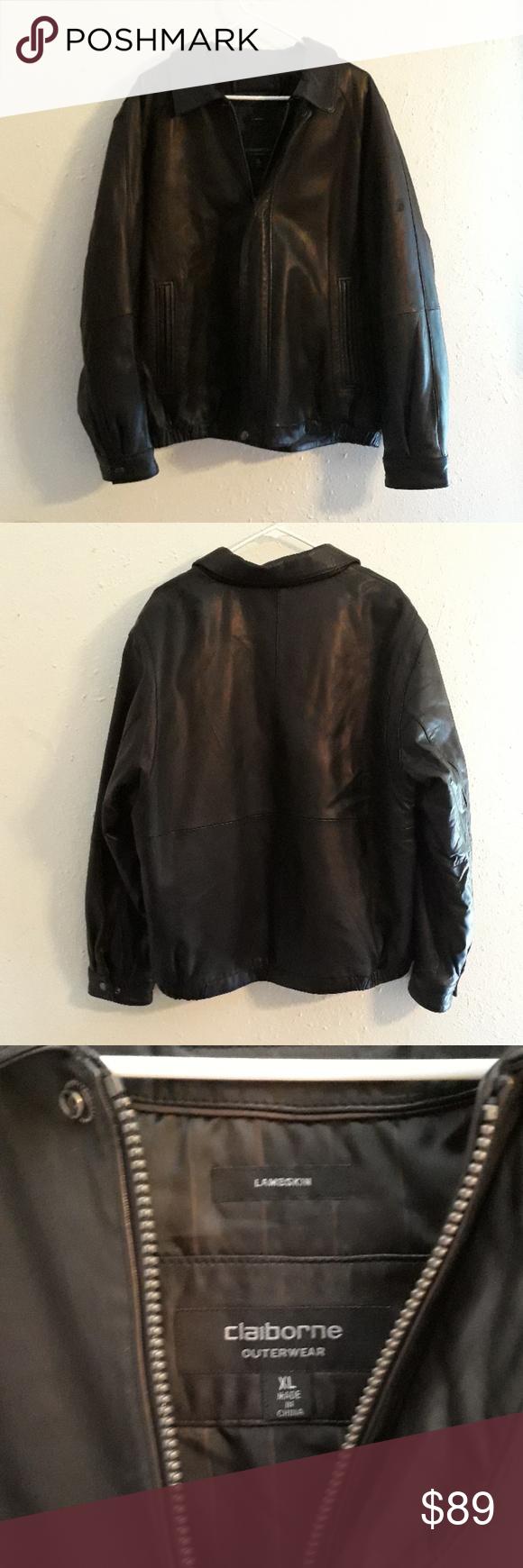 Liz Claiborne Mens Leather Lambskin Jacket Lambskin Jacket Liz Claiborne Clothes Design