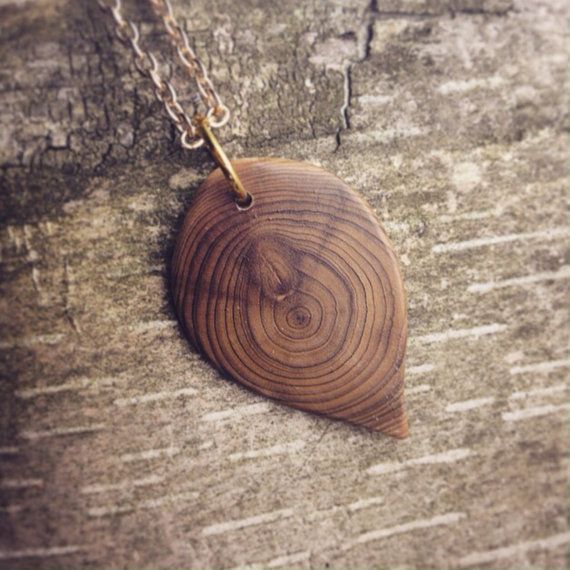 carved hand life wooden necklace tree jewelry pin wood of pendant