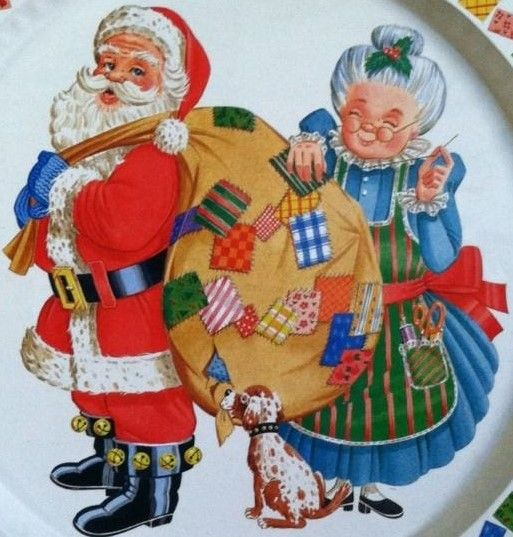 Tin plate featuring the merry couple. I remember lots of yummy homemade cookies on these kind of platters.