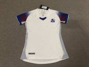 2018 World Cup Women Jersey Iceland Away Replica White Shirt  BFC981 ... f9621b665