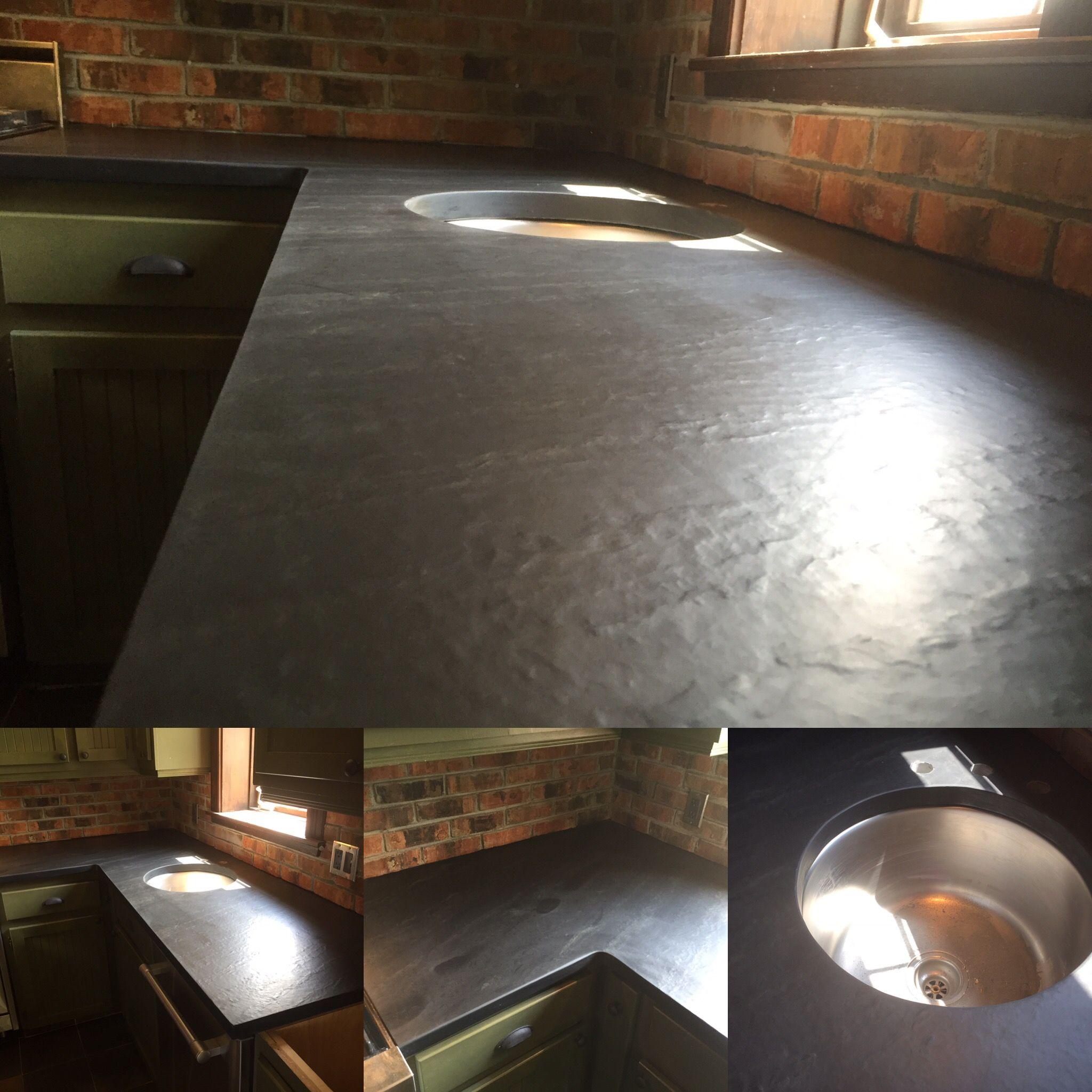 Pin By Naturel Decor On Comptoir De Cuisine En Ardoise Du Quebec Dining Table Decor Home Decor