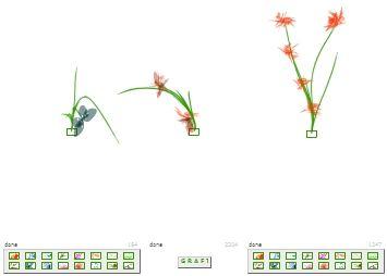 Nella pagina di arrivo, fai crescere il tipo di pianta che preferisci cliccando in uno dei quadratini in basso a destra, poi in uno di quelli a sinistra ed infine premendo graph al centro nascerà un ibrido. Il tutto è casuale e si può ricliccare. https://www.manager.it/default.asp?page=swf_elenco3.asp&id=flora_1.swf&section=s_stiledivita