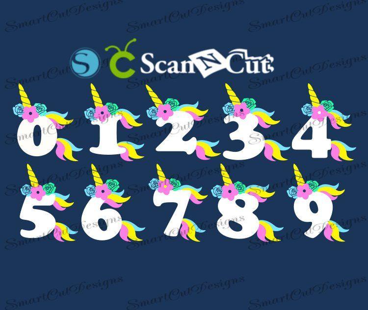Birthday Numbers SVG Set 0-9 Unicorn Svg Unicorn Birthday