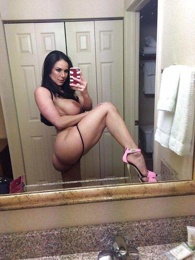 nude in heels selfie Sexy