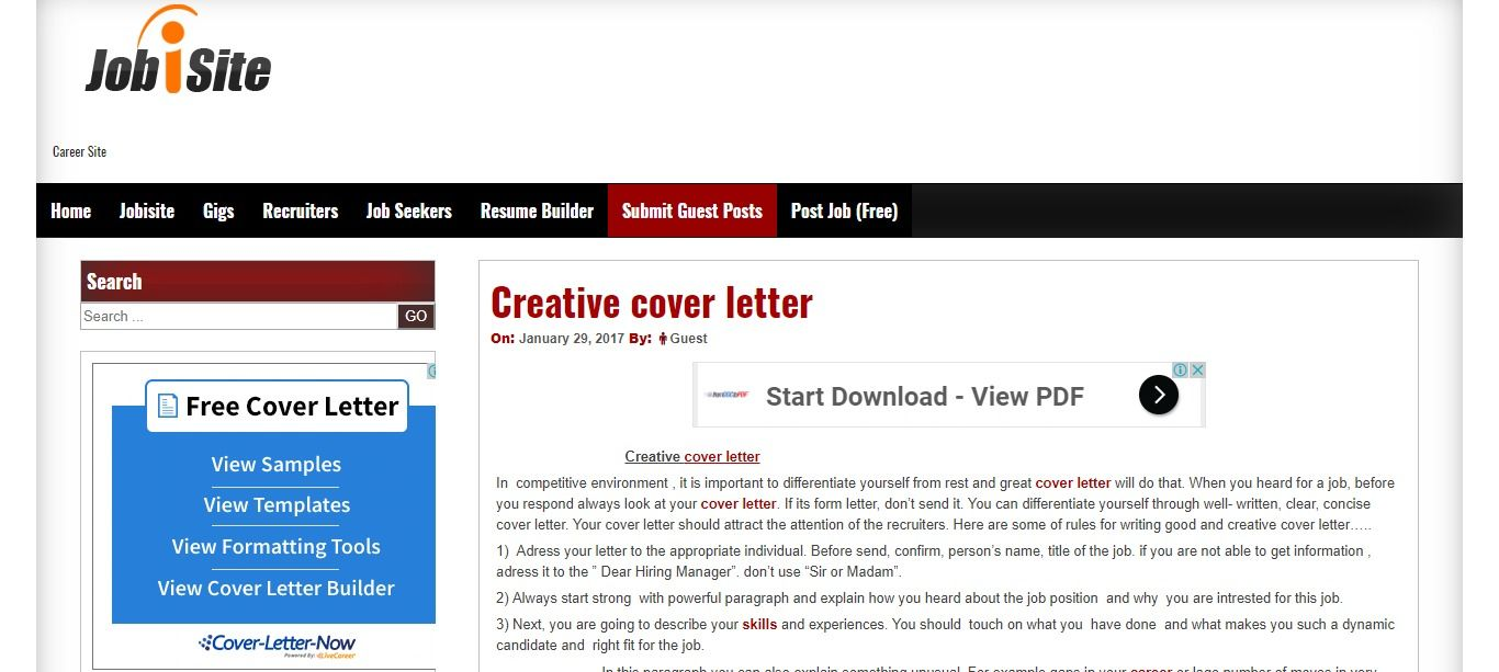 HttpLearnJobisiteComCreativeCoverLetter  Job Search