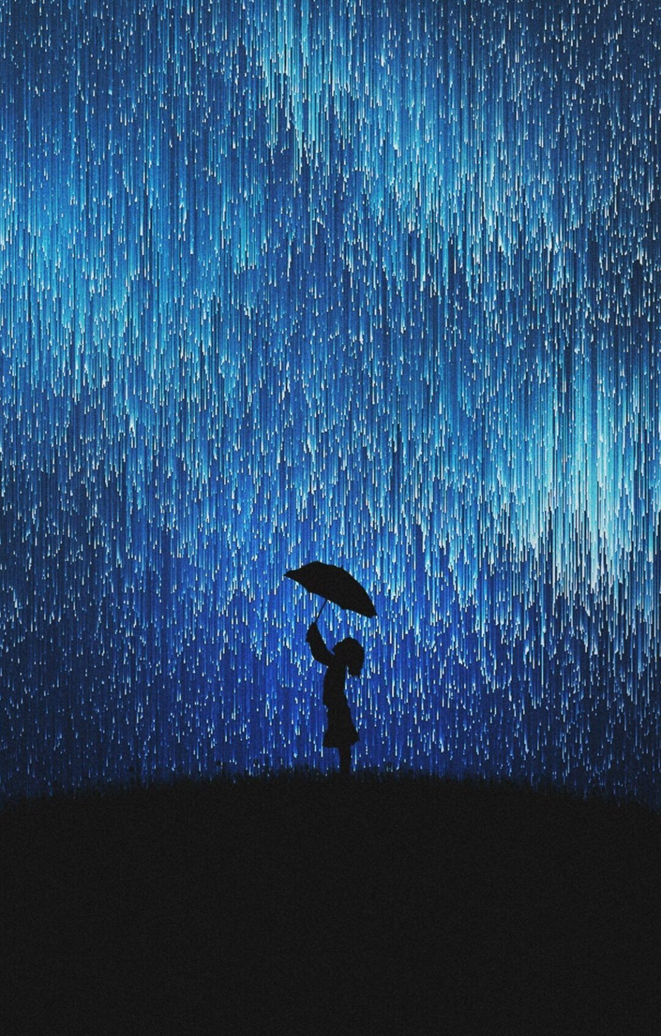 Blue Sign On In 2020 Rain Wallpapers Girl In Rain Painting