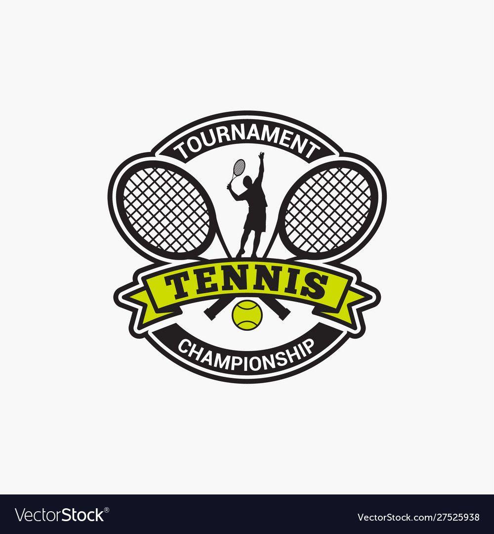 Tennis Club Badge Logo 2 Royalty Free Vector Image Sponsored Badge Logo Tennis Club Ad Club Badge Tennis Clubs Tennis