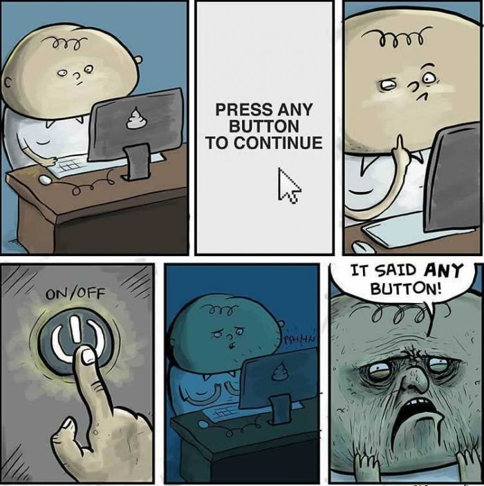 Press any button to continue.