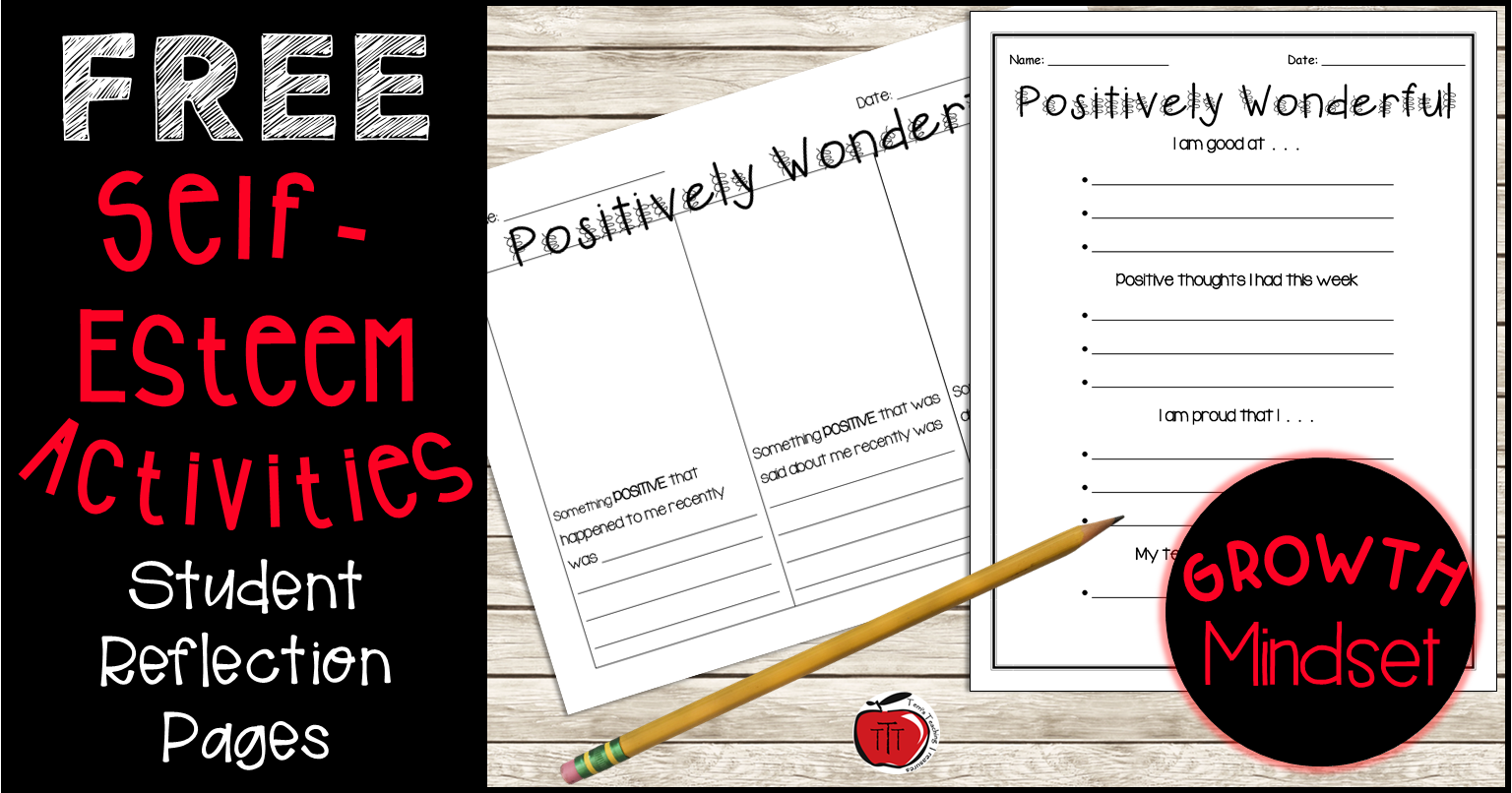 Free Self Esteem Worksheets Printables