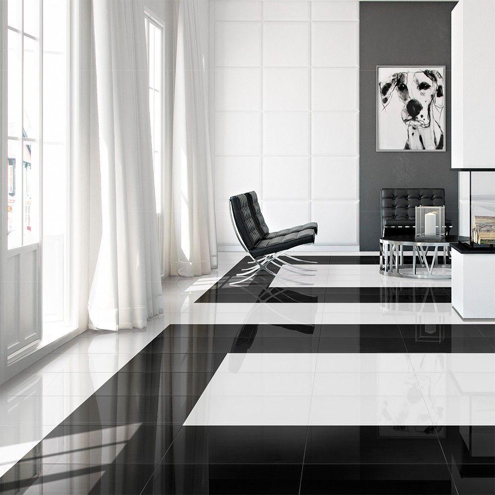 Pure White High Gloss Floor Tiles Ceramic floor tiles