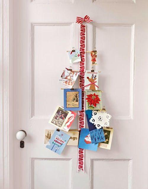 Tarjetas de Navidad en la decoración / Cartões de Natal na decoração / Christmas Cards Display