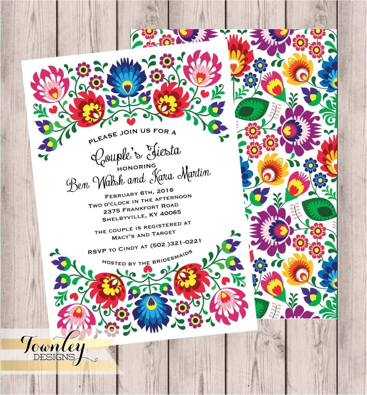 Mexican wedding invitations mexican fiesta invitation templates.