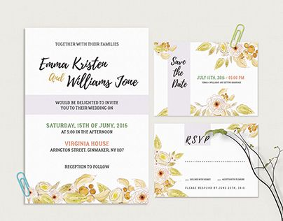 Check Out New Work On My Behance Portfolio Invitation Letter