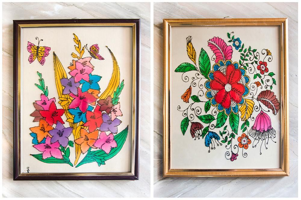 Products Glass Painting Flower Pattern Design Painting