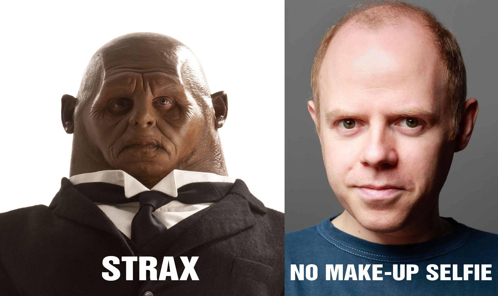 Dan Starkey as Strax! Could imagine wearing all that? #doctorwho #strax #danstarkey