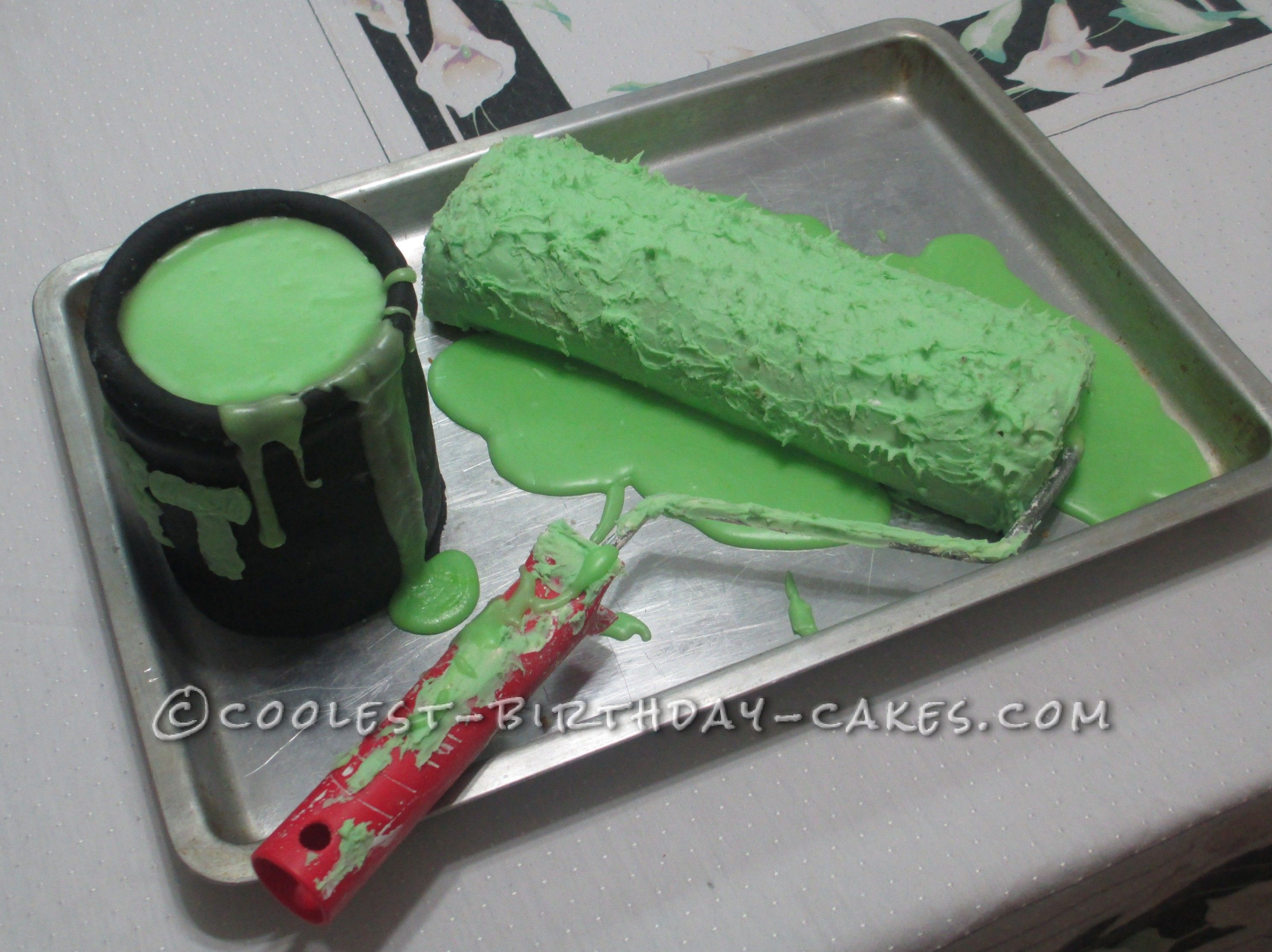 A Birthday Cake That Looks Like a Real Paint Roller!... This website is the Pinterest of birthday cake ideas