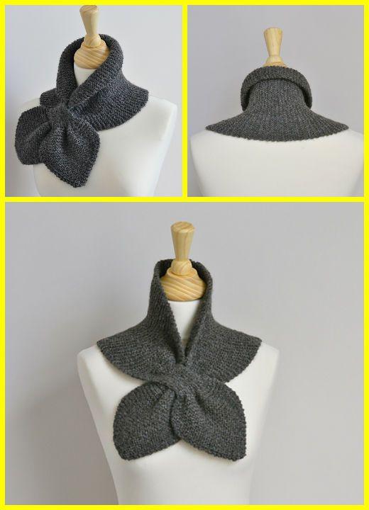 Knit Garter Stitch Miss Marple Scarf Free Pattern | Punto ...