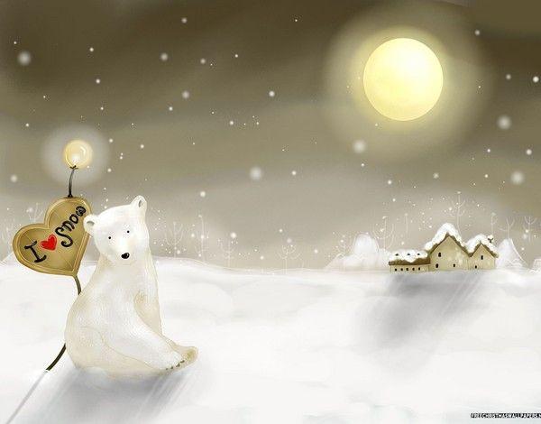 Christmas Village and Bear