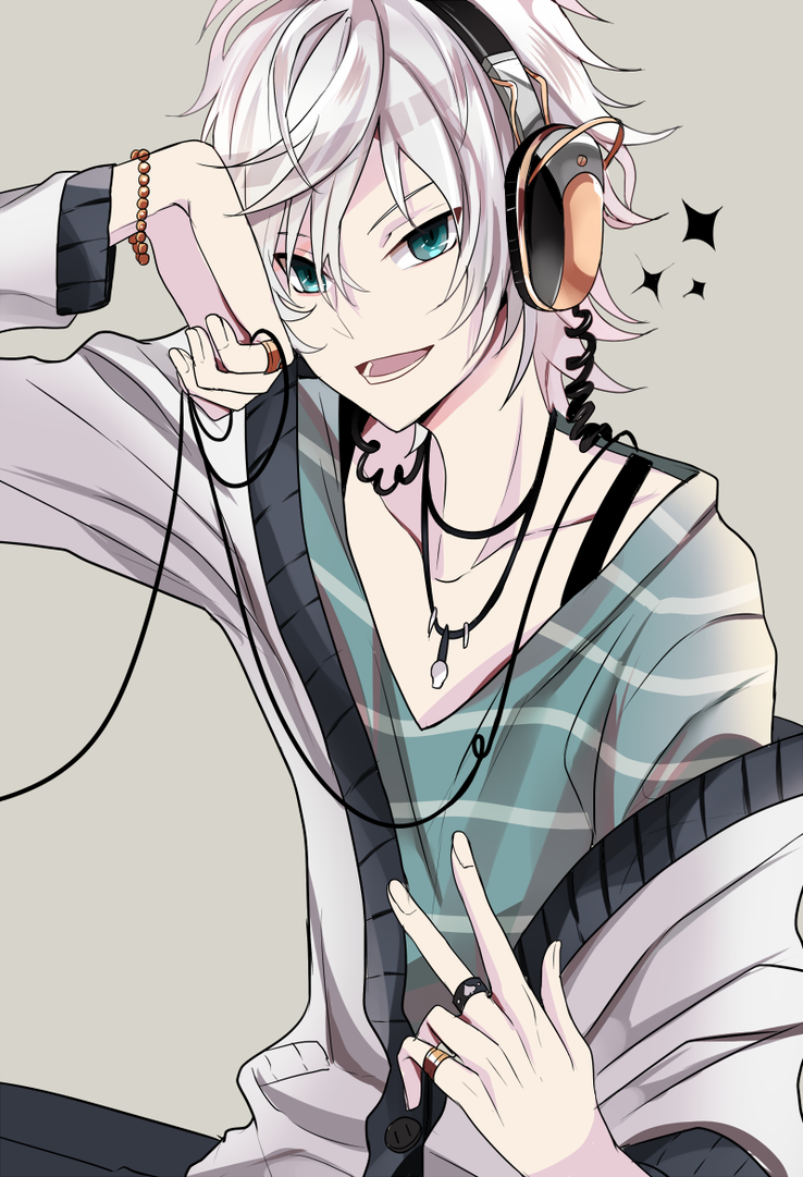 This Would Be An Awesome Pose To Draw Maybe For Pathos Anime Boy With Headphones Cute Anime Guys Anime Guys