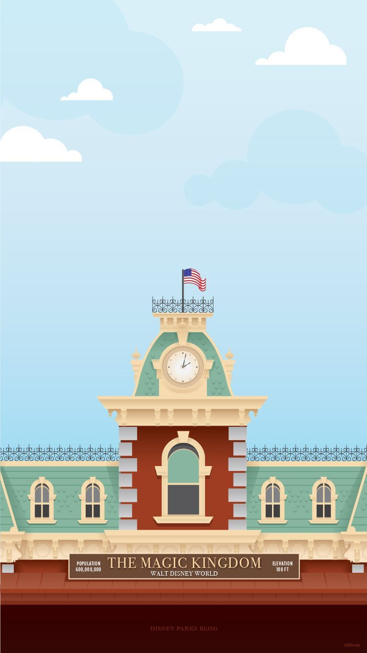 45th Anniversary Wallpaper Walt Disney World Railroad Train Station Mobile In 2020 Disney Wallpaper Wallpaper Iphone Disney Retro Disney