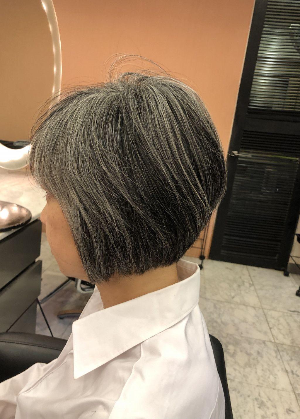 画像1つ目 40代50代60代ヘアスタイル髪型 ショートボブ の記事より
