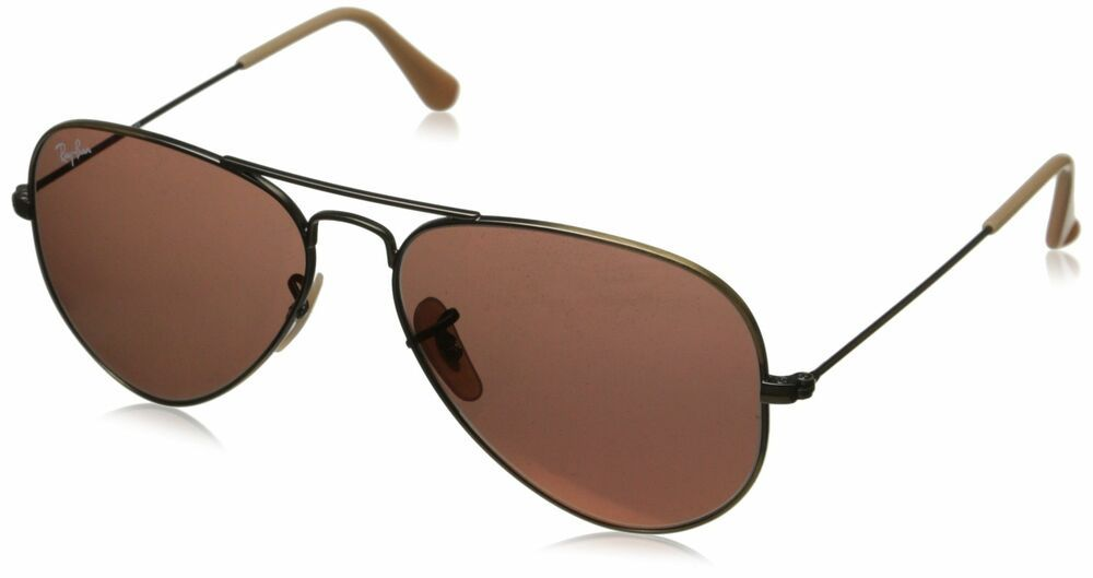 eb691e0e86 eBay  Sponsored Ray-Ban Aviator Classic Demiglos Brushed Bronze  Red Mirror  55 mm