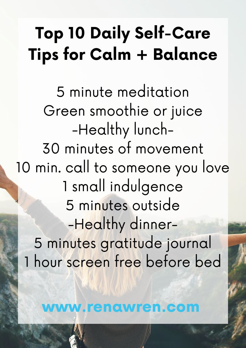 My top 10 tips for daily self care to bring calm and balance