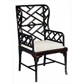 Martinique Bamboo Dining Arm Chair Furniture Home Decor Chippendale Chairs
