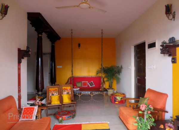 20 amazing living room designs indian style interior for Traditional indian house designs