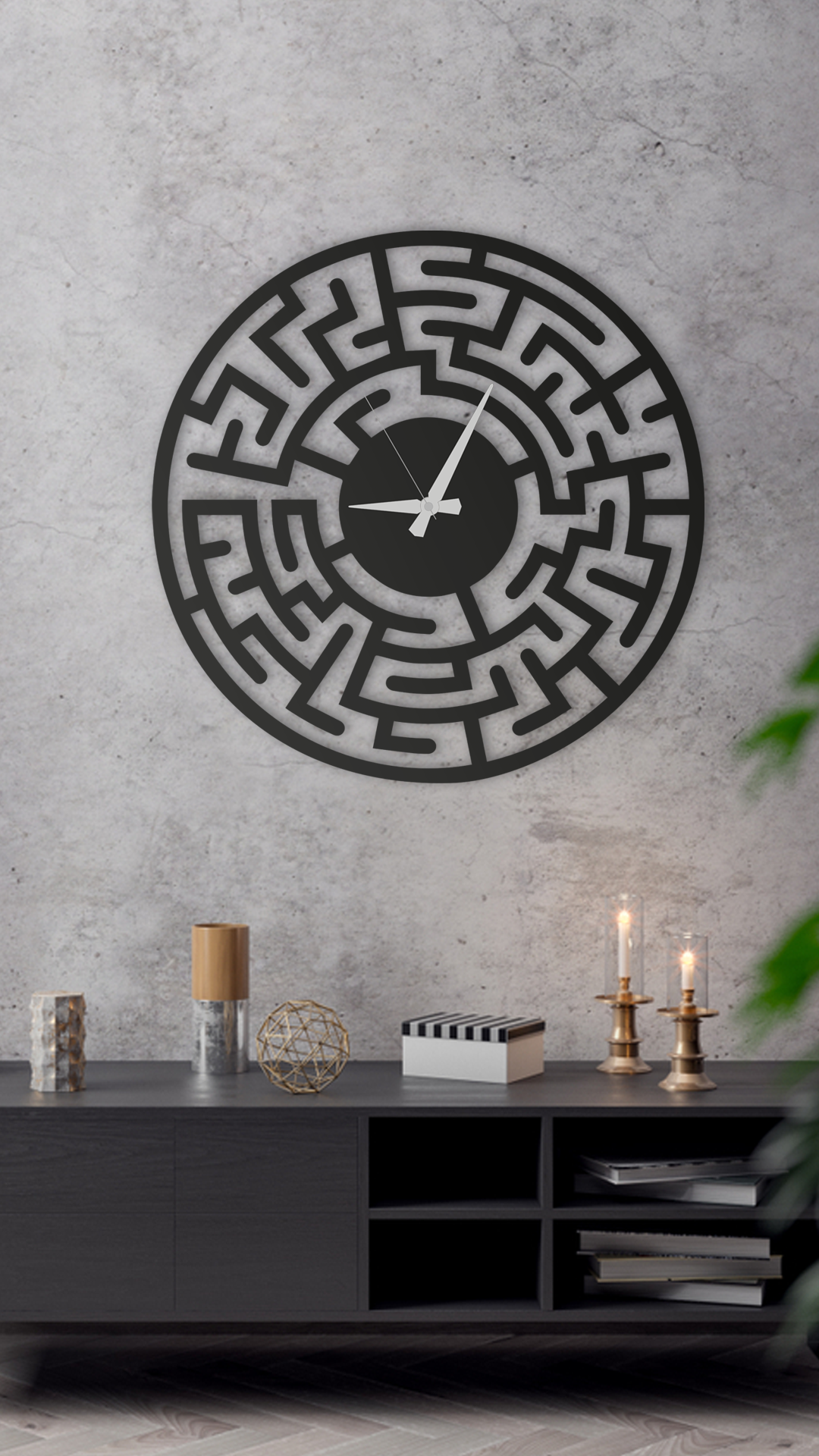 Maze Wall Clock Living Room Clock Large Wall Clock Modern Wall Clock In 2020 Living Room Clocks Rustic Wall Clocks Farmhouse Wall Clocks