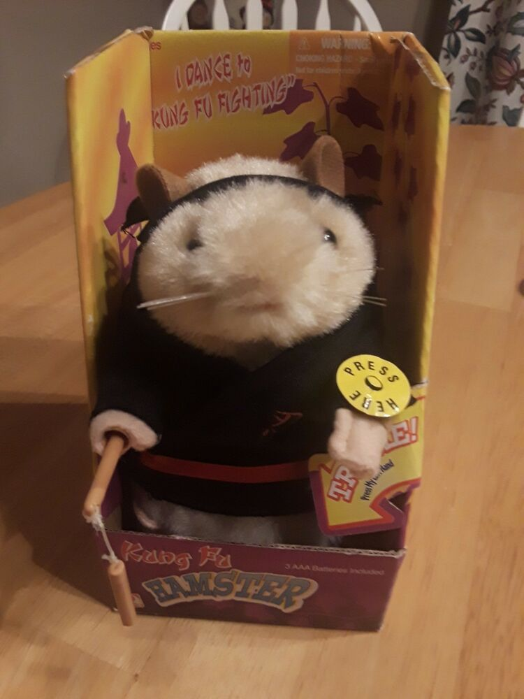 Hamster Dance Kung Fu Fighting Plush Toy Animated Martial Arts