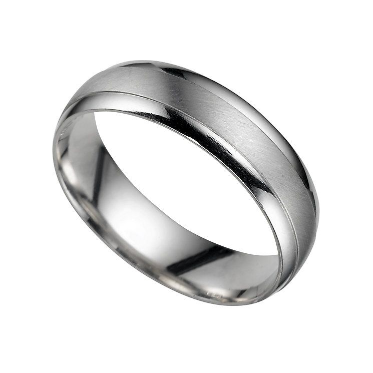 Perfect A Luxurious Platinum Court Wedding Band For Him In A Matt Finish With  Polished Edges. A Sophisticated Symbol Of Commitment Which Exudes Everyday  Style. Great Pictures