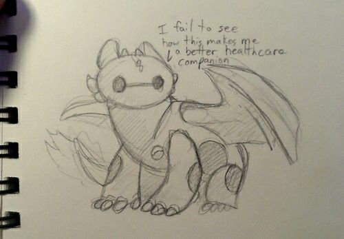 Toothless as Baymax