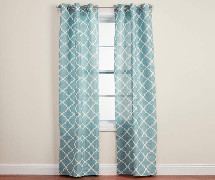Living Colors Living Colors Brinson Geo Curtain Panel Pairs Big