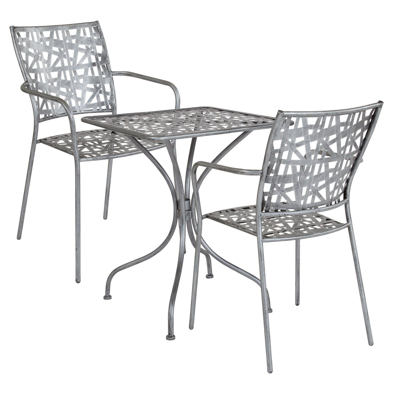 Outdoor Flash Furniture Agostina Series 23 5 In Square Steel