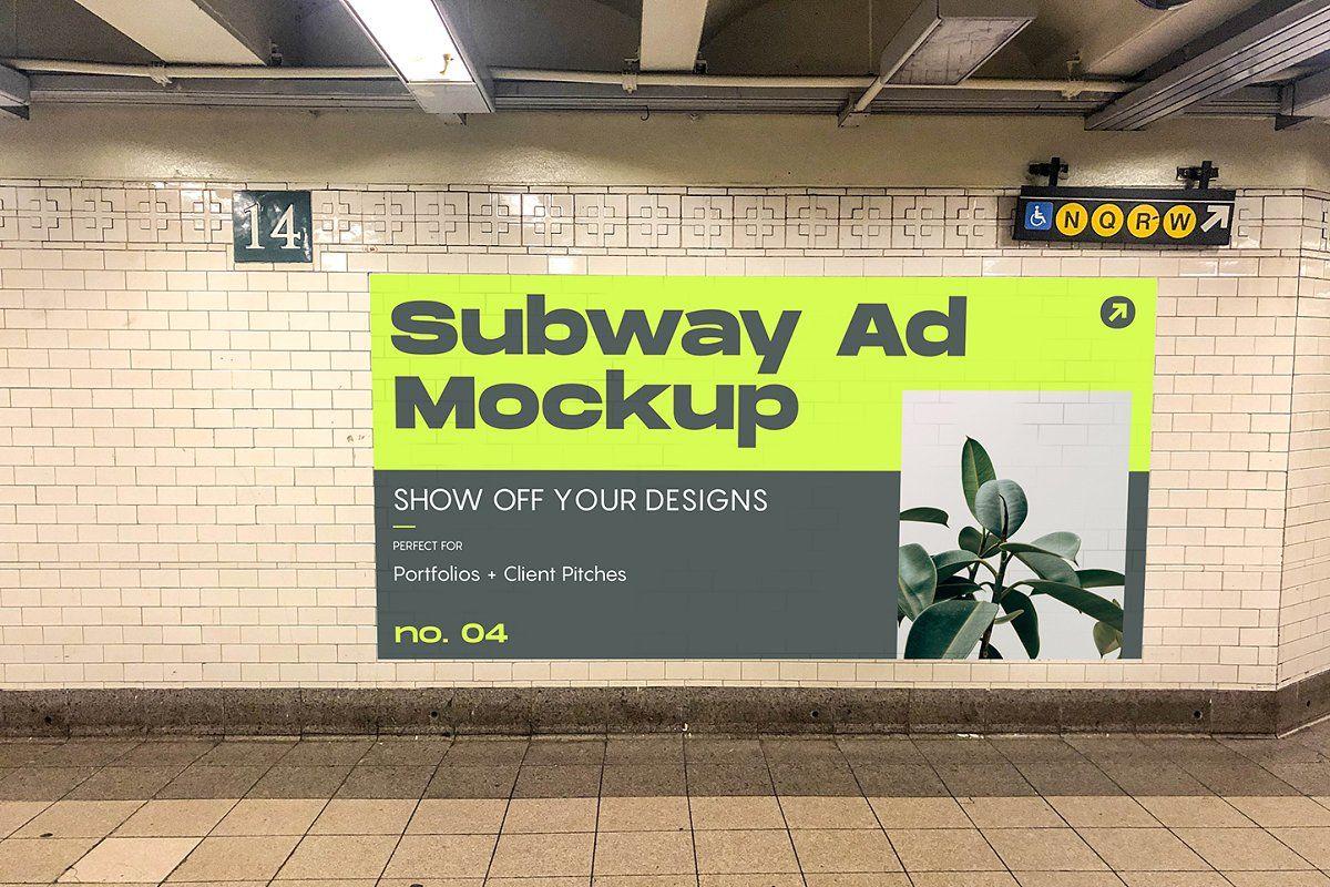 Sale 50 Off 22 Mockups Nyc Subway Portfolio Design Billboard Mockup Mockup