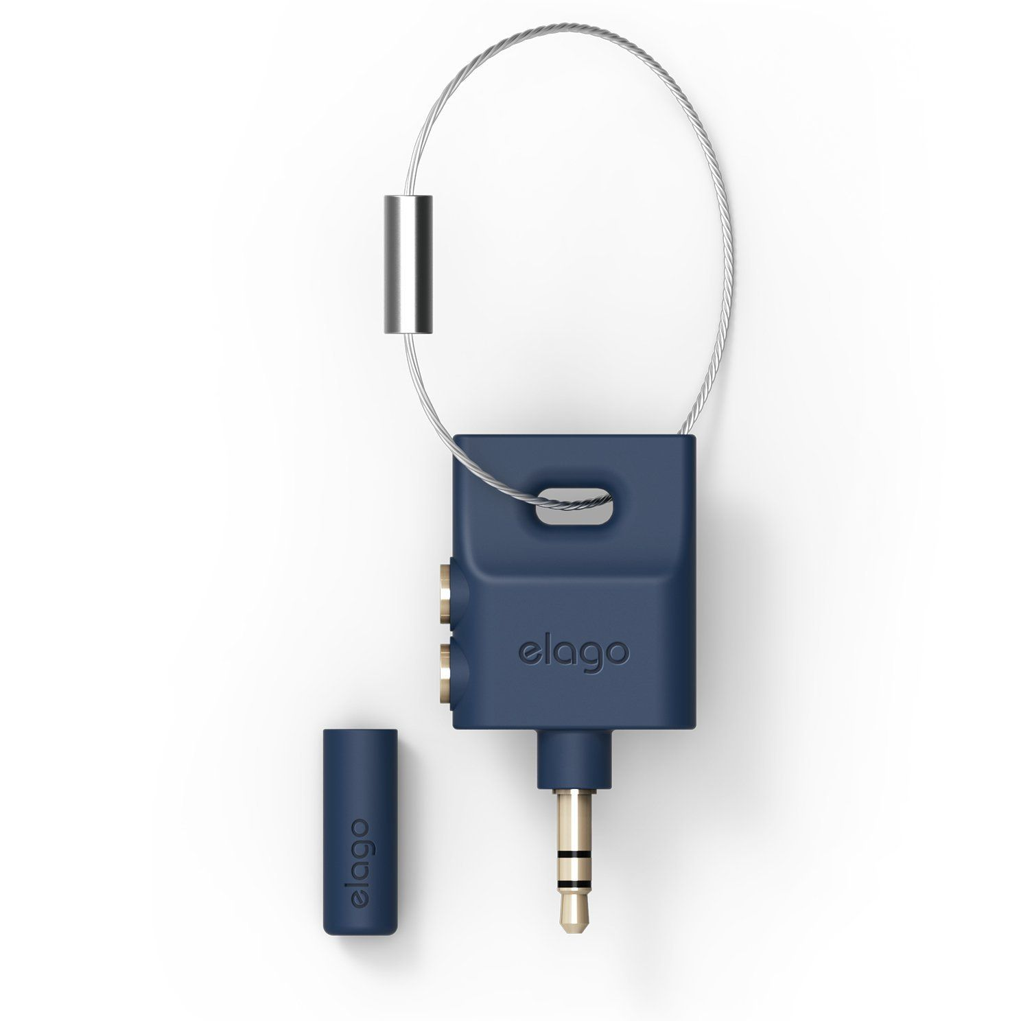 Jean Indigo Galaxy and Any Portable Device with 3.5mm elago Keyring Headphone Splitter for iPhone iPod iPad
