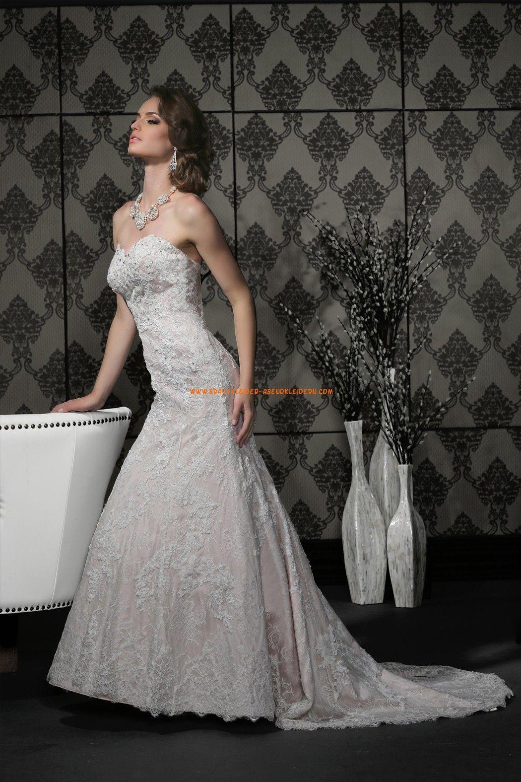 Meerjungfrau Exklusive Moderne Brautkleider aus Spitze mit Schleppe ...