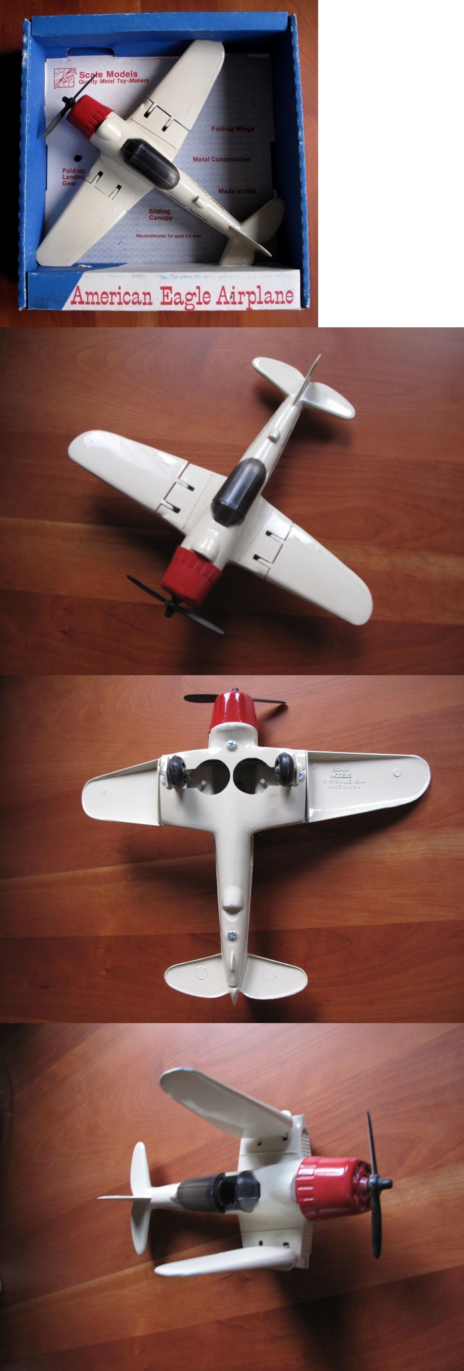 Vintage Manufacture 2650: Scale Models Ertl Toy Airplane