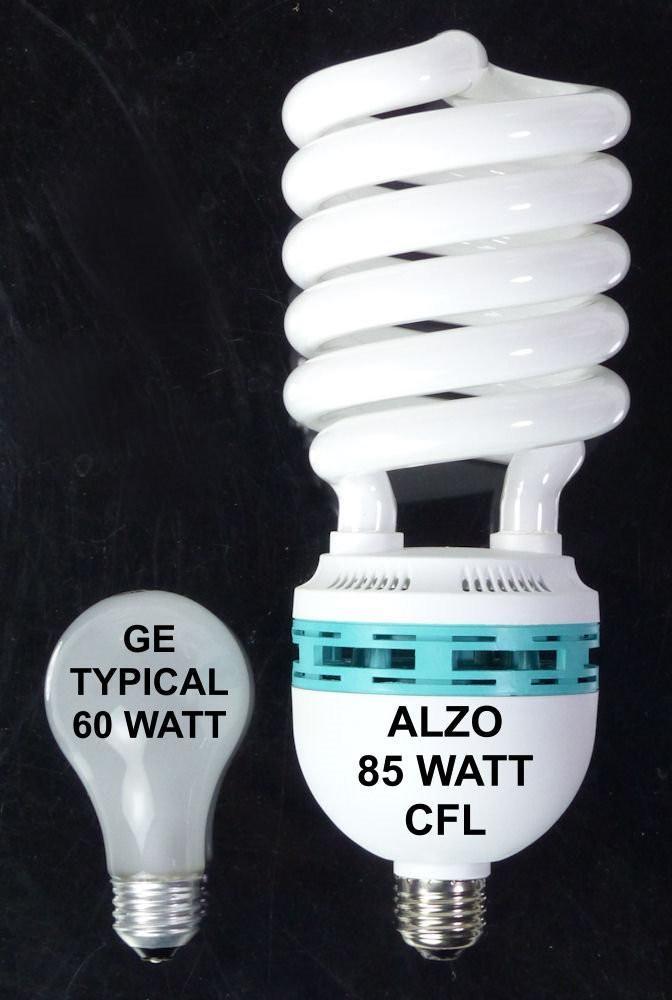 Alzo 85w Joyous Light Full Spectrum Cfl Light Bulb 5500k 4250 Lumens 120v Pack Of 4 Light Bulb Fluorescent Light Bulb Photo Lighting