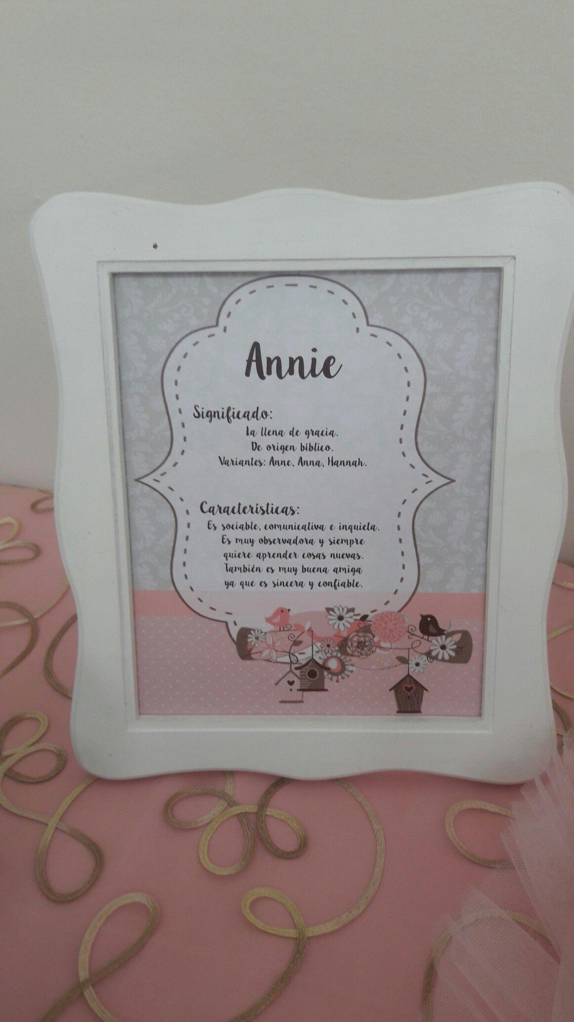 Marcó personalizado con significado del nombre   Decoración baby ...
