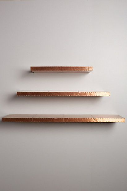 Gold Floating Shelves Adorable Burnished Metal Floating Shelf  Shelves Metals And Anthropologie Design Inspiration