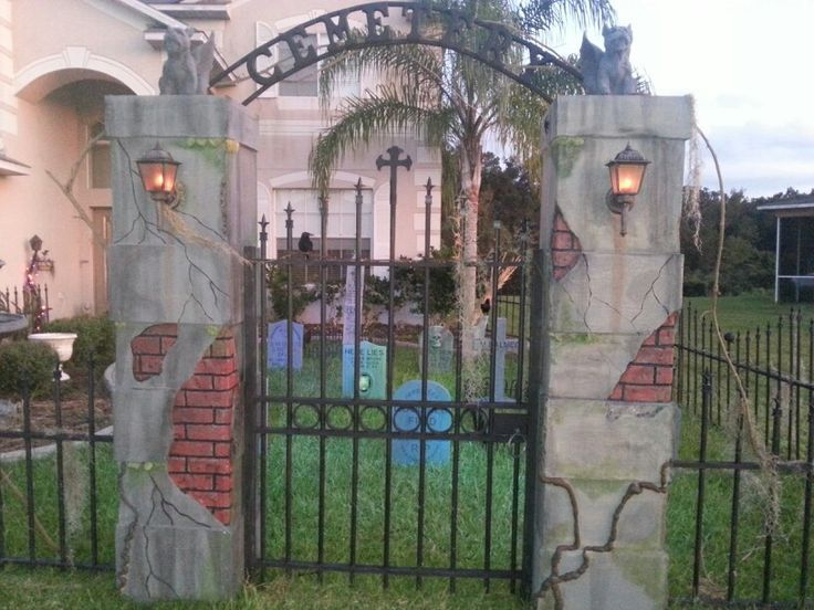 1000 images about fences gates pillars on pinterest columns - Cemetery Halloween Decorations