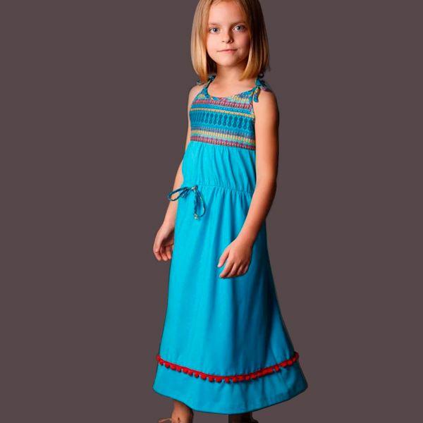 Vestido longo infantil casual