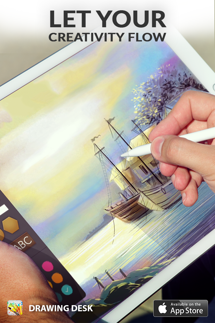 Best Drawing App For Ipad Pro And Apple Pencil Drawing Desk Is A Creative Artistic App Designed To Encourage Kids Adults Draw Color Paint Sketch Phot