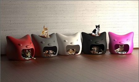 Kitty Meow Cat Shaped Beds For Cats